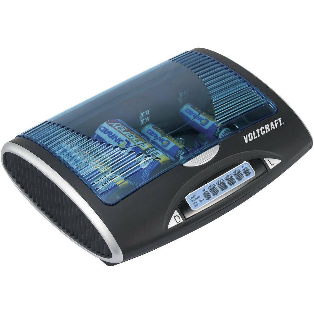 Univerzální nabíječka P-600 LCD, s USB VOLTCRAFT
