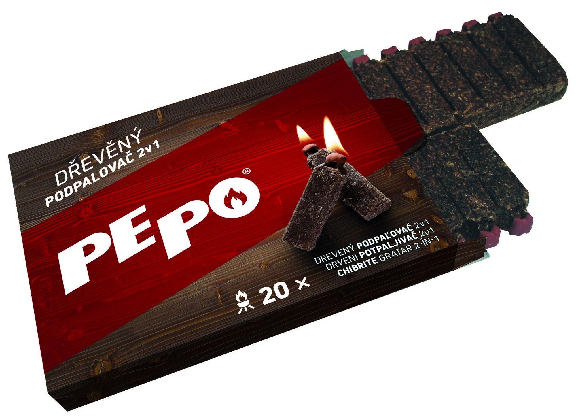 PE-PO dřevěný podpalovač 2v1 PEPO