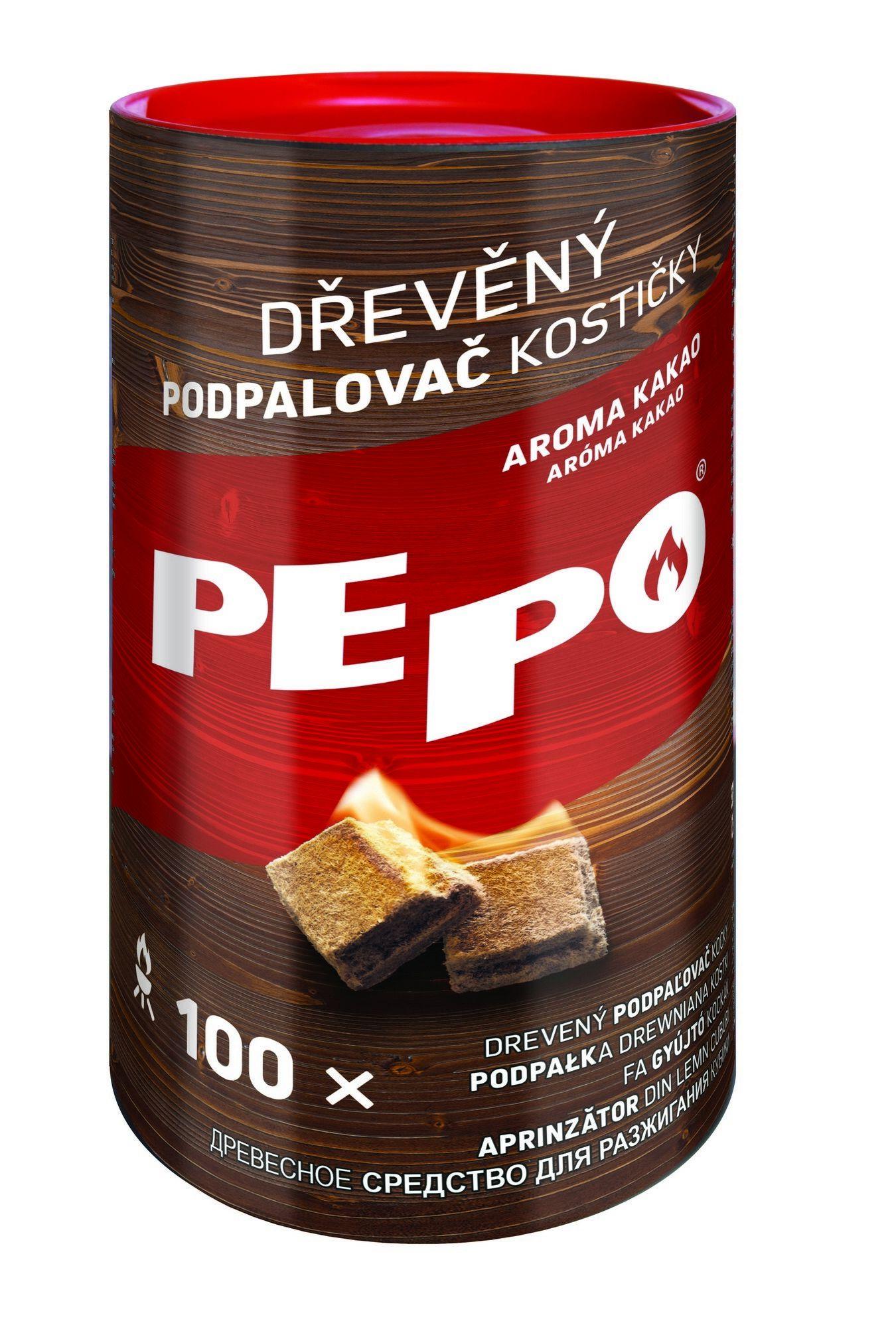 PE-PO dřevěný podpalovač kostičky 100 ks PEPO