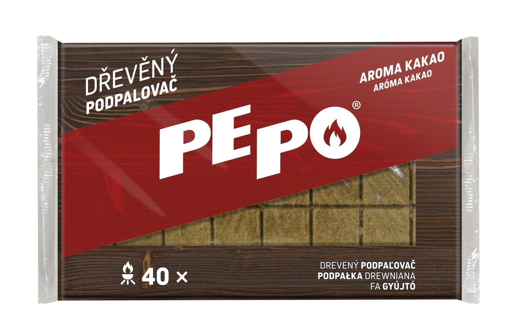 PE-PO dřevěný podpalovač 40 podpalů PEPO