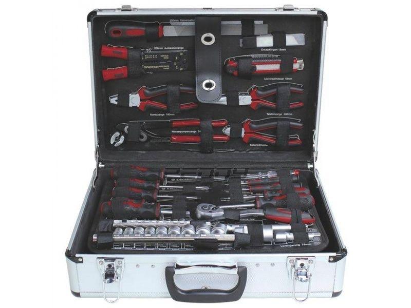 Profesionální hliníkový kufr s nářadím z chrom-vanadiové oceli 95 dílů ZUR-TS0495