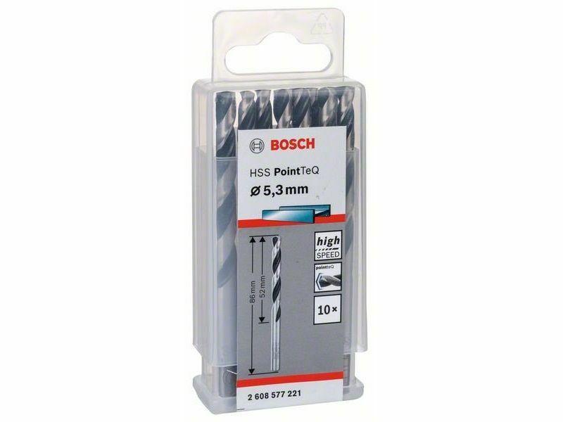 Spirálový vrták HSS PointTeQ 5,3 mm, sada 10ks - 3165140907309 Bosch