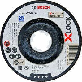 Bosch Brusný kotouč Expert for Metal systému X-LOCK,125×6×22,23 - 2608619259