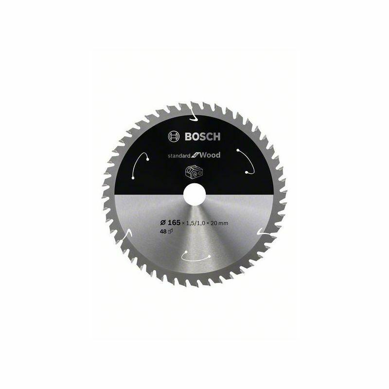 Pilový kotouč Standard for Wood pro aku pily - 165x20 T48 - 3165140958349 BOSCH