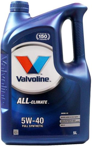 Valvoline All Climate Diesel C3 SAE 5W40 5L  Durablend