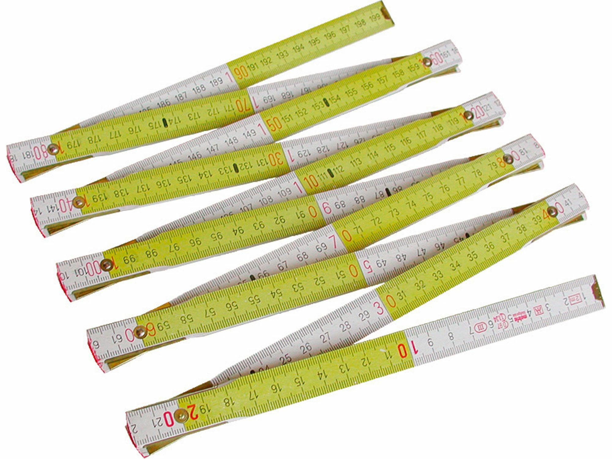 Metr skládací dřevěný METRIE, 2m EXTOL-PREMIUM