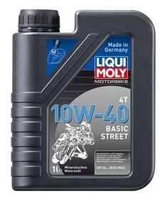 Motocyklový olej Liqui Moly Motorbike 4T 10W40 Basic Street 1L LIQUI-MOLY