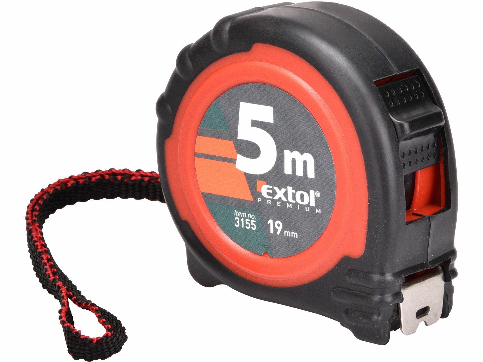 Metr svinovací, 5m, š. pásku 19mm EXTOL-PREMIUM