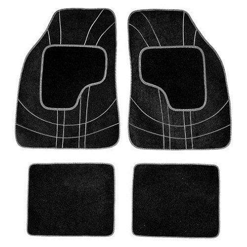 Koberce textillní NET 4ks šedé, COMPASS