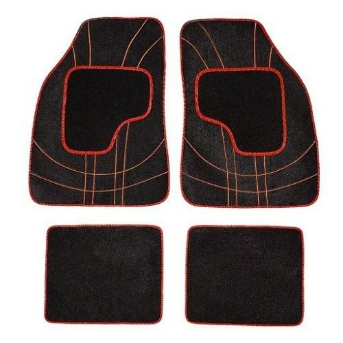 Koberce textillní NET 4ks červené, COMPASS