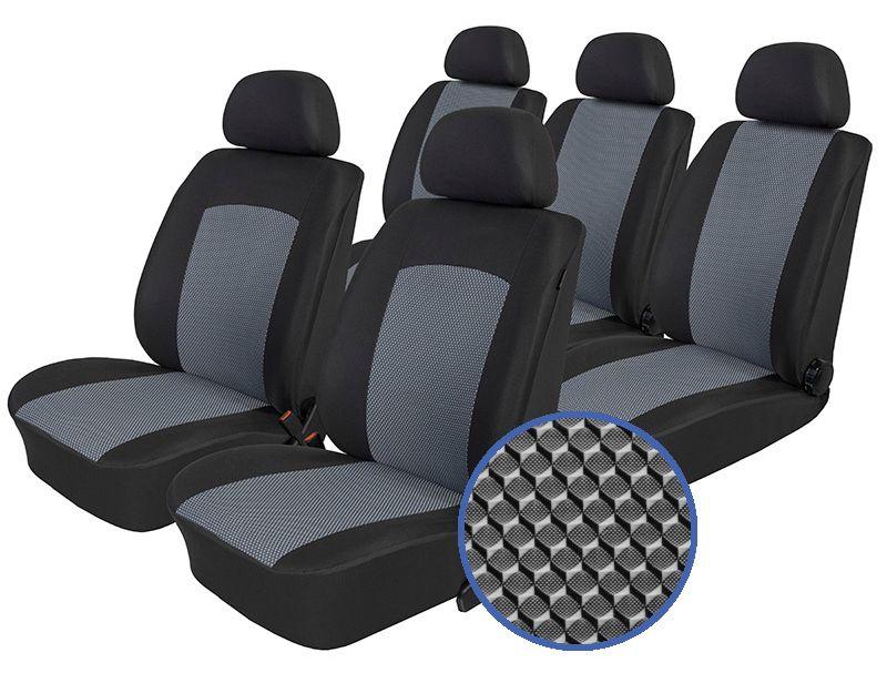 Autopotahy FIAT DOBLO III, 5 míst, od r. 2009, Dynamic šedé SIXTOL