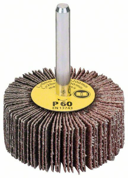 Lamelové brusné kotouče; 6 mm, 60, 50 mm, 20 mm - 3165140004572 BOSCH