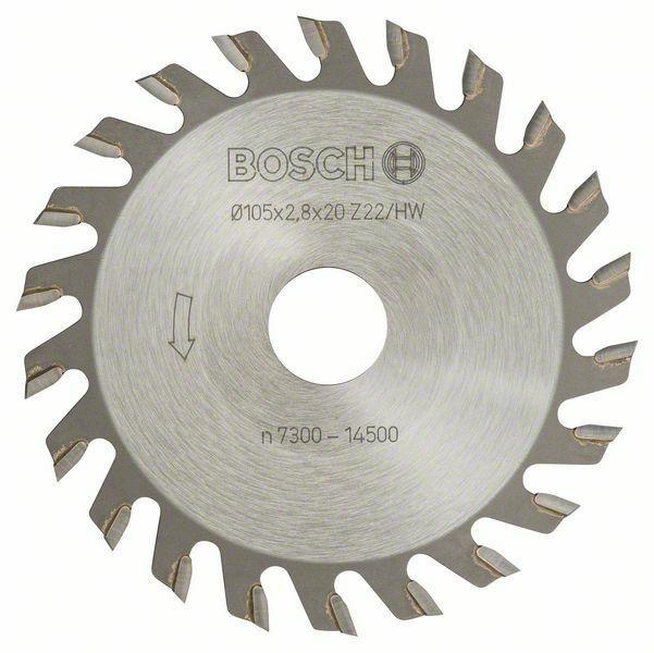 Kotoučová fréza - 22, 20 mm, 2,8 mm - 3165140012560 BOSCH