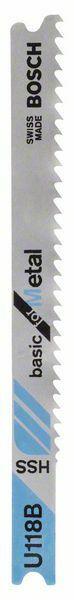 Pilový plátek do kmitací pily U 118 B - Basic for Metal - 3165140014076 BOSCH