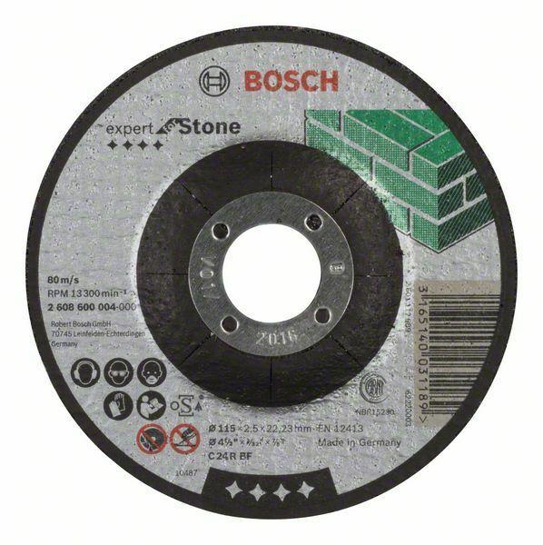Dělicí kotouč profilovaný Expert for Stone - C 24 R BF, 115 mm, 2,5 mm - 3165140031189 BOSCH