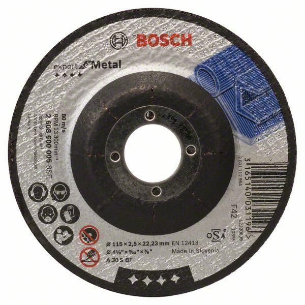 Dělicí kotouč profilovaný Expert for Metal - A 30 S BF, 115 mm, 2,5 mm - 3165140031196 BOSCH