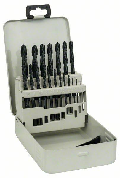 Sada vrtáků do kovu HSS-R v kovové kazetě, 19dílná, DIN 338 - 1-10 mm - 3165140061100 BOSCH