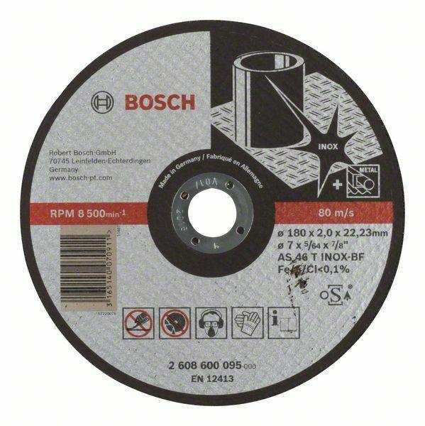 Dělicí kotouč rovný Expert for Inox - AS 46 T INOX BF, 180 mm, 2,0 mm - 3165140070911 BOSCH