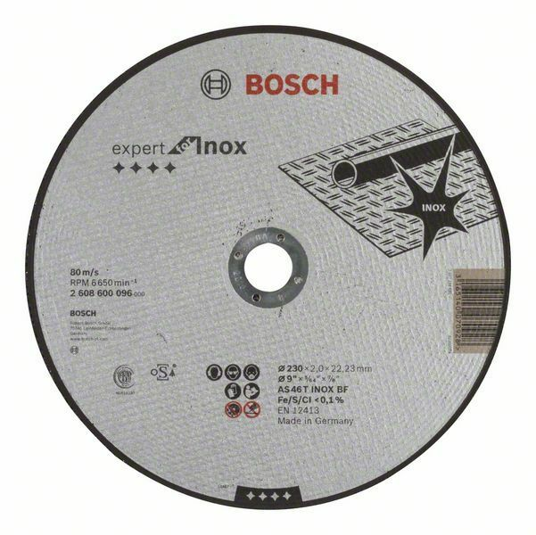Dělicí kotouč rovný Expert for Inox - AS 46 T INOX BF, 230 mm, 2,0 mm - 3165140070928 BOSCH
