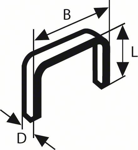 Sponky do sponkovačky z plochého drátu, typ 57 - 10,6 x 1,25 x 10 mm BOSCH