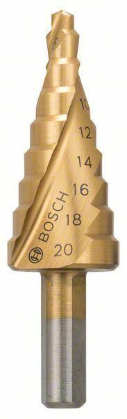 Stupňovité vrtáky HSS-TiN - 4 - 20 mm, 8,0 mm, 70,5 mm - 3165140107419 BOSCH