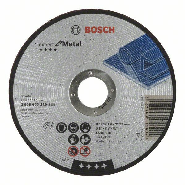 Dělicí kotouč rovný Expert for Metal - AS 46 S BF, 125 mm, 1,6 mm - 3165140116404 BOSCH