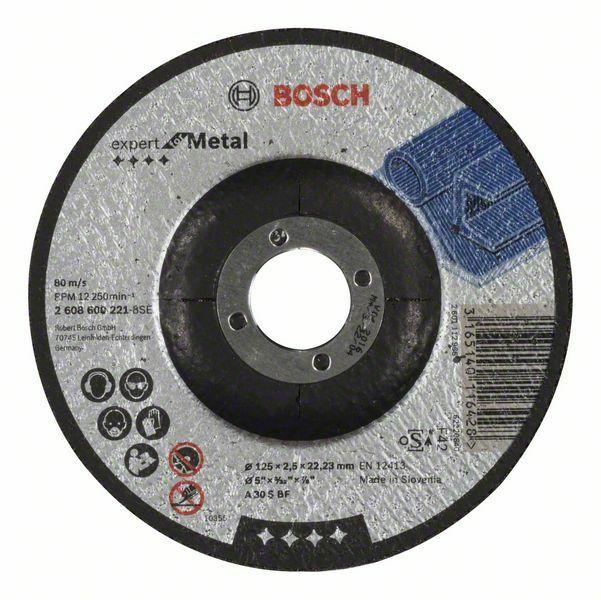 Dělicí kotouč profilovaný Expert for Metal - A 30 S BF, 125 mm, 2,5 mm - 3165140116428 BOSCH
