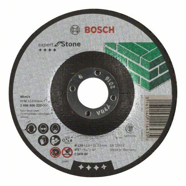 Dělicí kotouč profilovaný Expert for Stone - C 24 R BF, 125 mm, 2,5 mm - 3165140116435 BOSCH