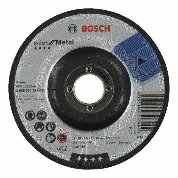 Hrubovací kotouč profilovaný Expert for Metal - A 30 T BF, 125 mm, 6,0 mm BOSCH