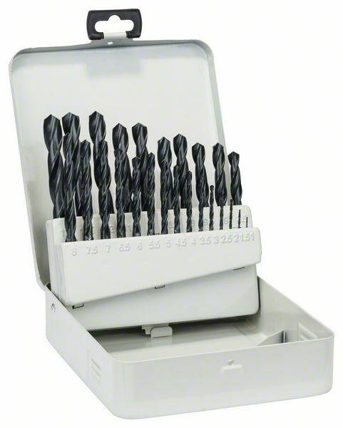 Sada vrtáků do kovu HSS-R v kovové kazetě, 25dílná, DIN 338 - 1-13 mm BOSCH