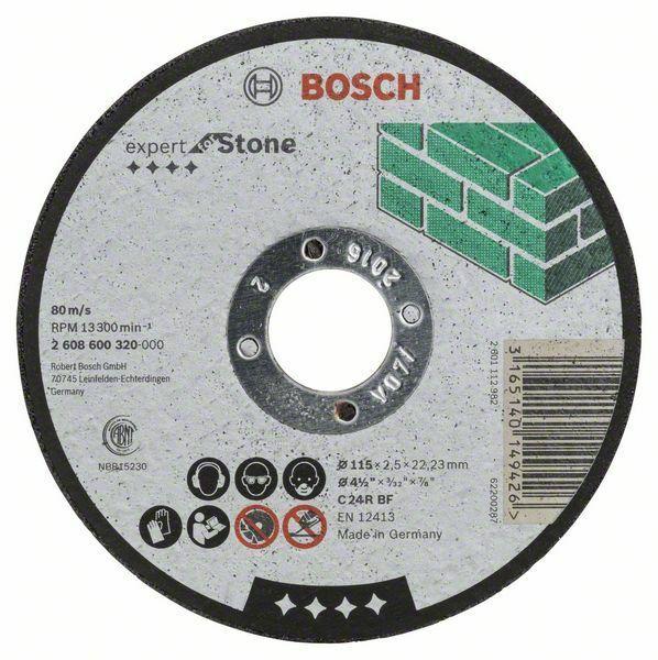 Dělicí kotouč rovný Expert for Stone - C 24 R BF, 115 mm, 2,5 mm - 3165140149426 BOSCH