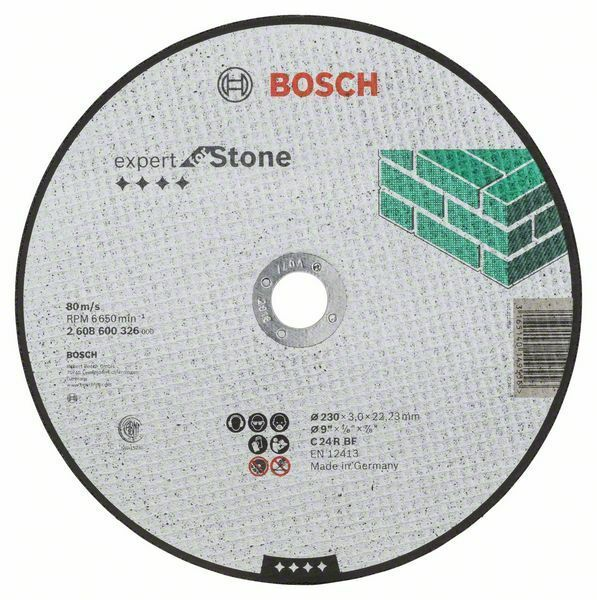 Dělicí kotouč rovný Expert for Stone - C 24 R BF, 230 mm, 3,0 mm - 3165140149556 BOSCH