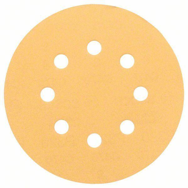 Brusný papír C470, balení 5 ks; 125 mm, 80 - 3165140158862 BOSCH