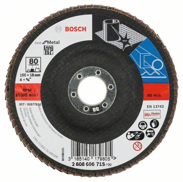 Lamelový brusný kotouč X571, Best for Metal; 100 mm, 16 mm, 80 (Balení 10 ks) BOSCH