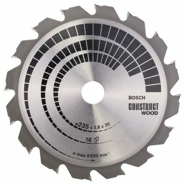 Pilový kotouč Construct Wood - 235 x 30/25 x 2,8 mm, 16 - 3165140194297 BOSCH