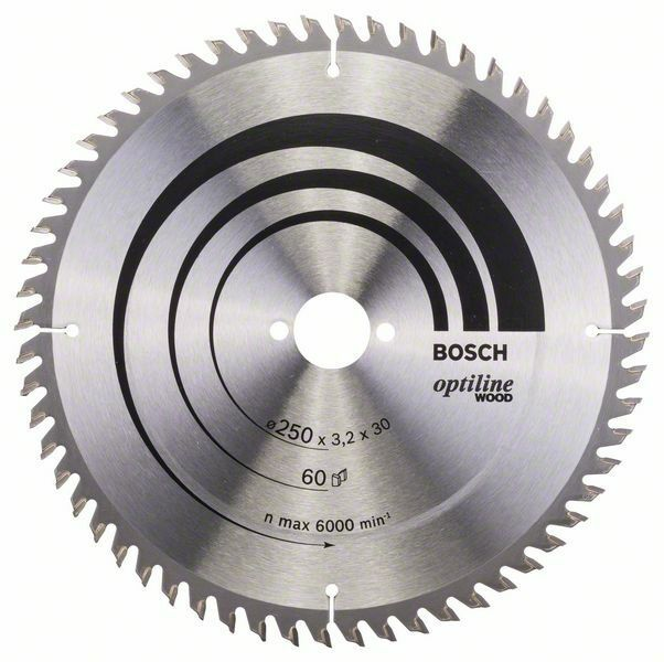 Pilový kotouč Optiline Wood - 250 x 30 x 3,2 mm, 60 - 3165140194532 BOSCH