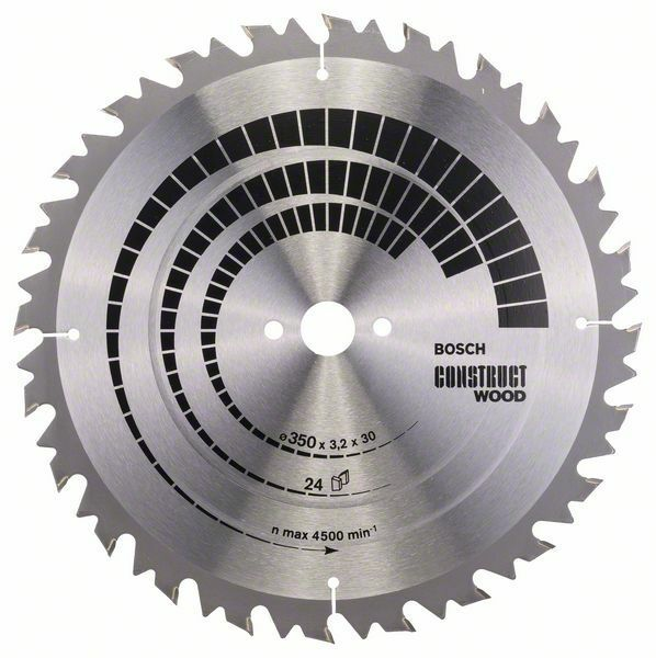 Pilový kotouč Construct Wood - 350 x 30 x 3,2 mm, 24 - 3165140194815 BOSCH