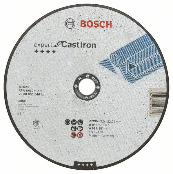 Dělicí kotouč rovný Expert for Cast Iron - AS 24 R, 230 mm, 3,0 mm - 3165140218672 BOSCH