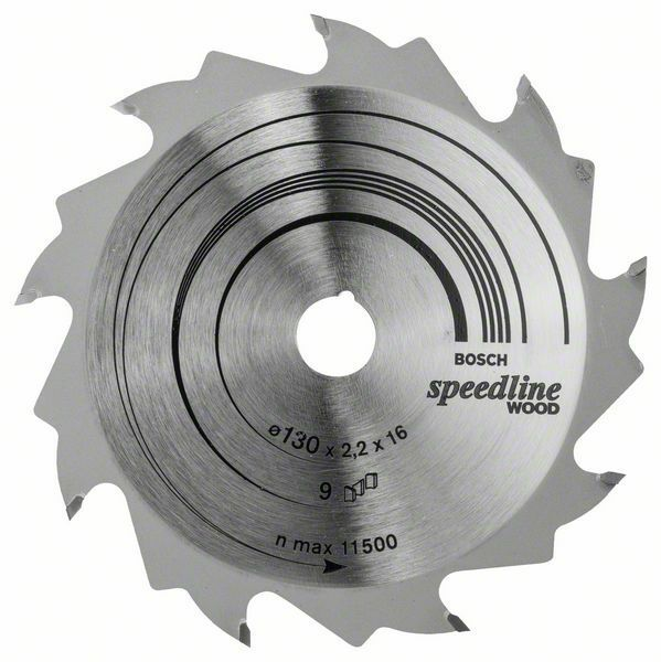 Pilový kotouč Speedline Wood - 130 x 16 x 2,2 mm, 9 - 3165140239851 BOSCH