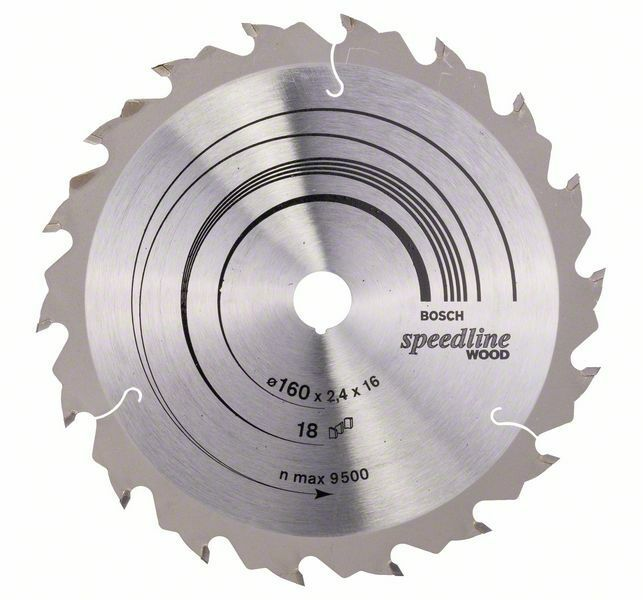 Pilový kotouč Speedline Wood - 160 x 16 x 2,4 mm, 18 - 3165140239967 BOSCH