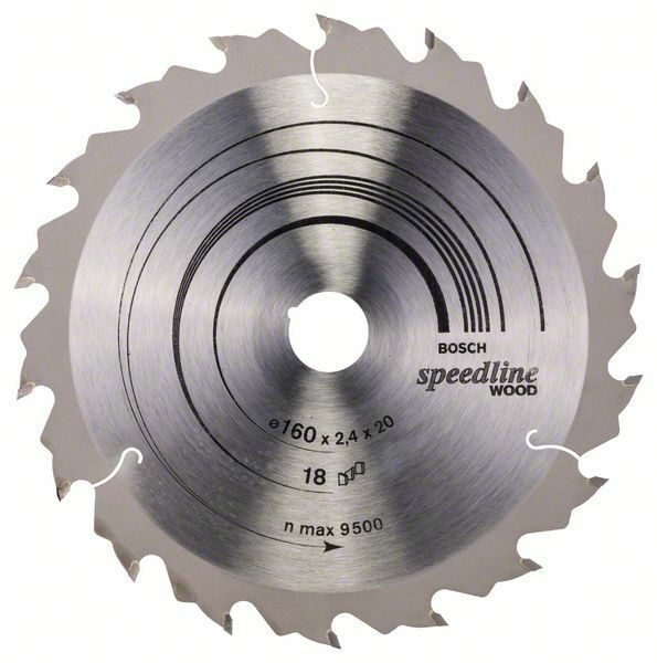 Pilový kotouč Speedline Wood - 160 x 20 x 2,4 mm, 18 - 3165140239981 BOSCH