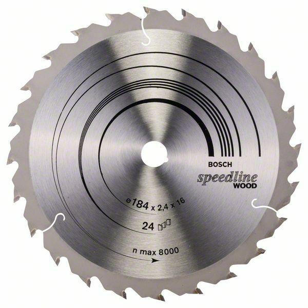 Pilový kotouč Speedline Wood - 184 x 16 x 2,4 mm, 24 - 3165140240062 BOSCH