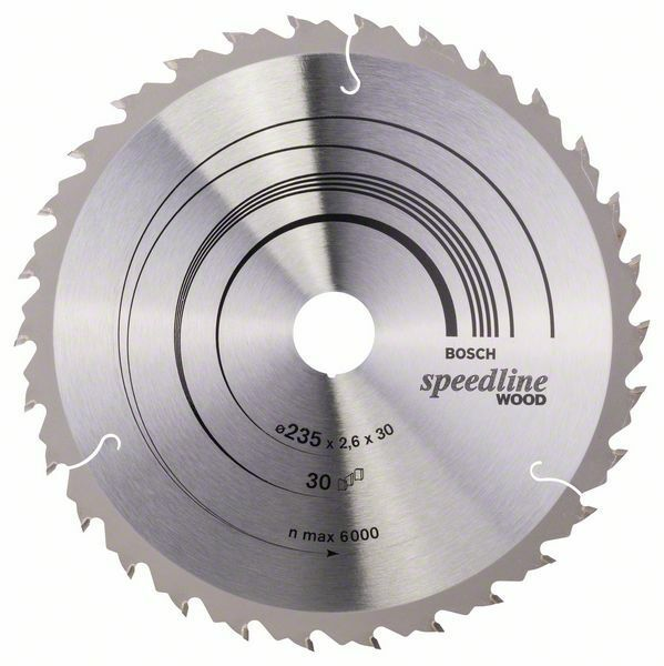 Pilový kotouč Speedline Wood - 235 x 30/25 x 2,6 mm, 30 BOSCH