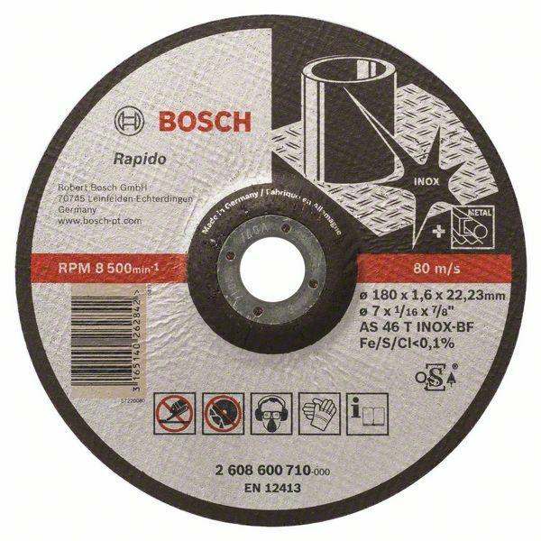 Dělicí kotouč profilovaný Expert for Inox - Rapido - AS 46 T INOX BF, 180 mm, 1,6 mm - 316 BOSCH