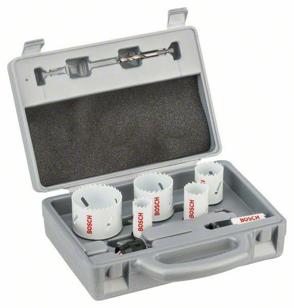 9dílná sanitární sada pilových děrovek - 20; 25; 32; 38; 51; 64 mm BOSCH