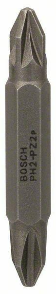 3dílná sada oboustranných šroubovacích bitů - PH2; PZ2; 45 mm - 3165140302685 BOSCH