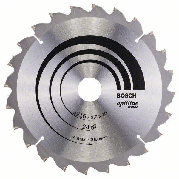 Pilový kotouč Optiline Wood - 216 x 30 x 2,0 mm, 24 - 3165140314404 BOSCH