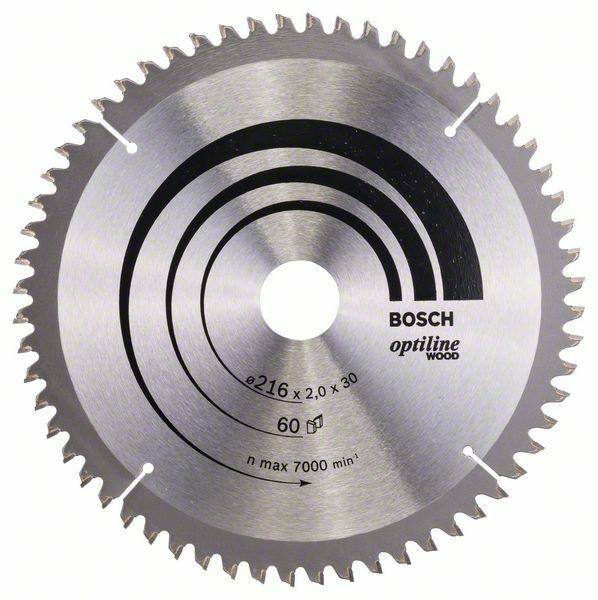 Pilový kotouč Optiline Wood - 216 x 30 x 2,0 mm, 60 - 3165140314428 BOSCH