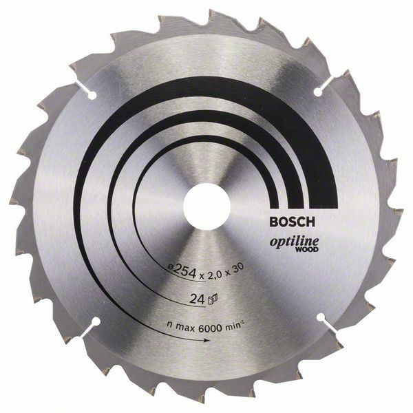 Pilový kotouč Optiline Wood - 254 x 30 x 2,0 mm, 24 - 3165140314435 BOSCH