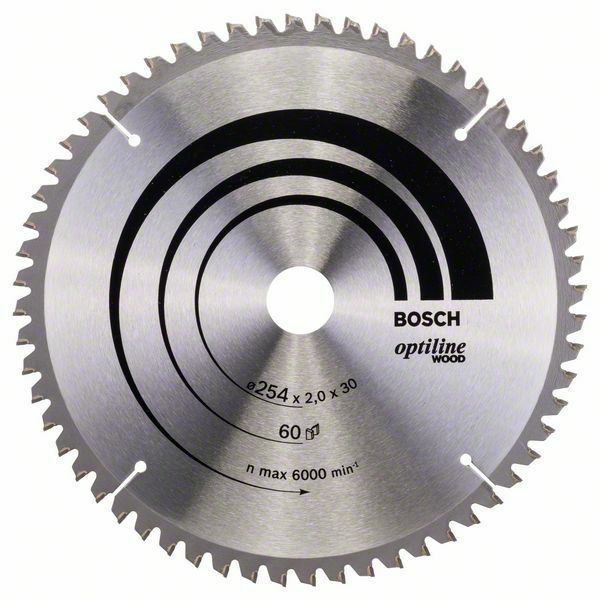 Pilový kotouč Optiline Wood - 254 x 30 x 2,0 mm, 60 - 3165140314459 BOSCH